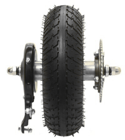 Razor E300 (V41+) 9'' Rear Wheel Complete